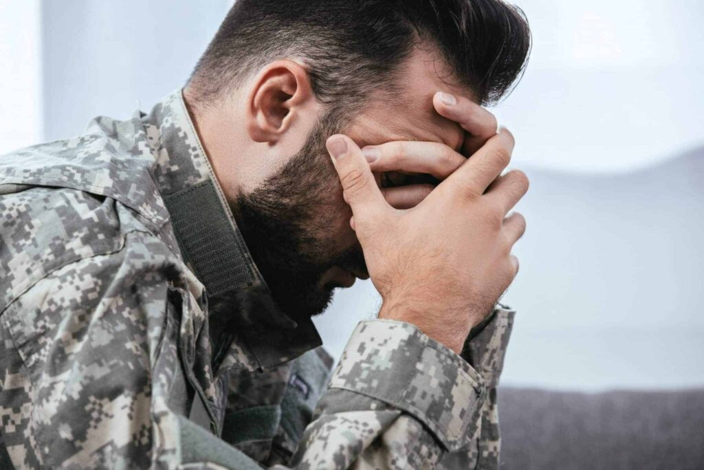 Soldier suffering from PTSD