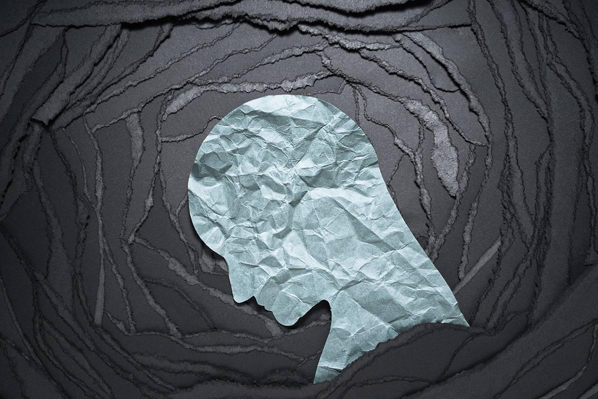 Anxious silhouette